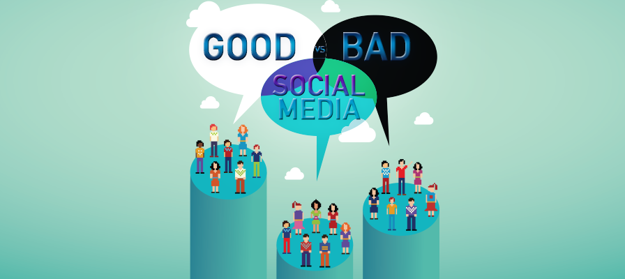 social media is good or bad While some may be addicted to their social media networks, it is one of the best  ways to stay informed major news outlets, corporations and.